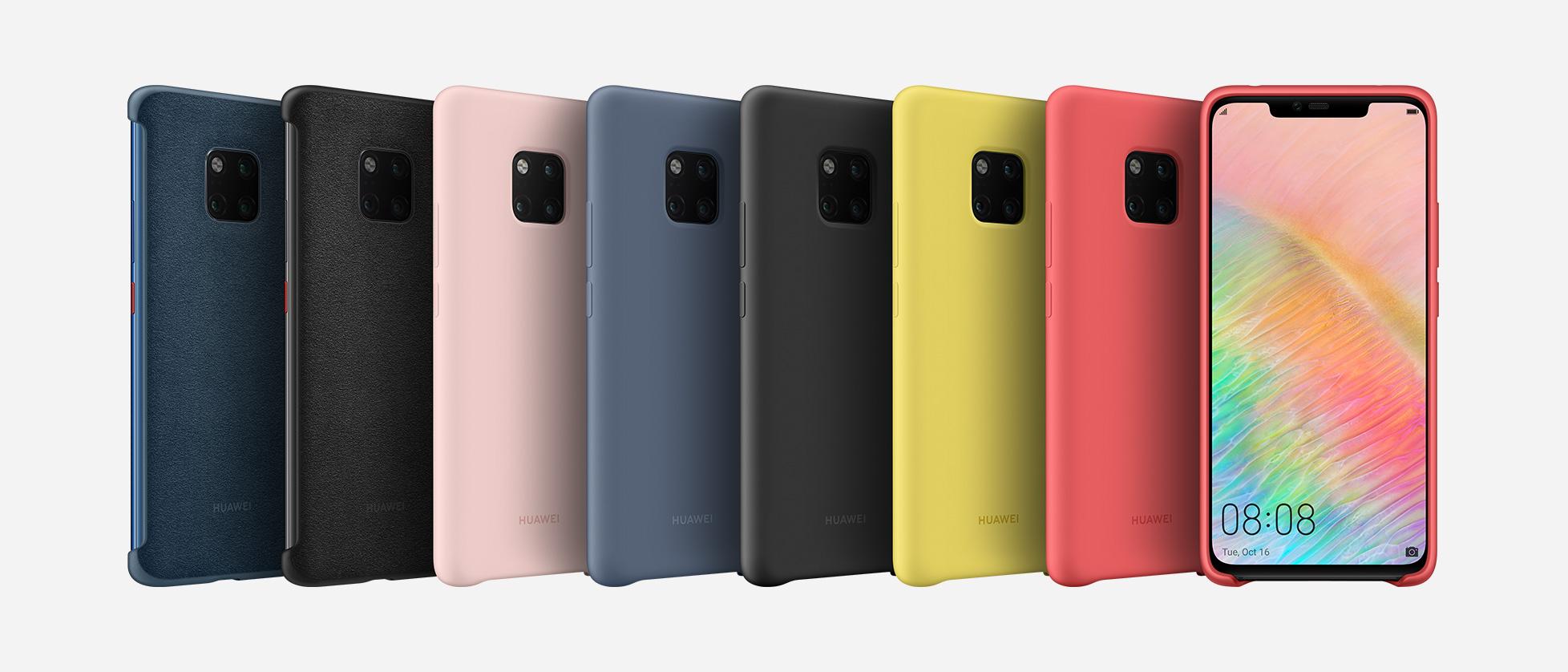 design senza tempo 79c89 d853e La gamma Huawei Mate 20 è accompagnata da cover e accessori ...
