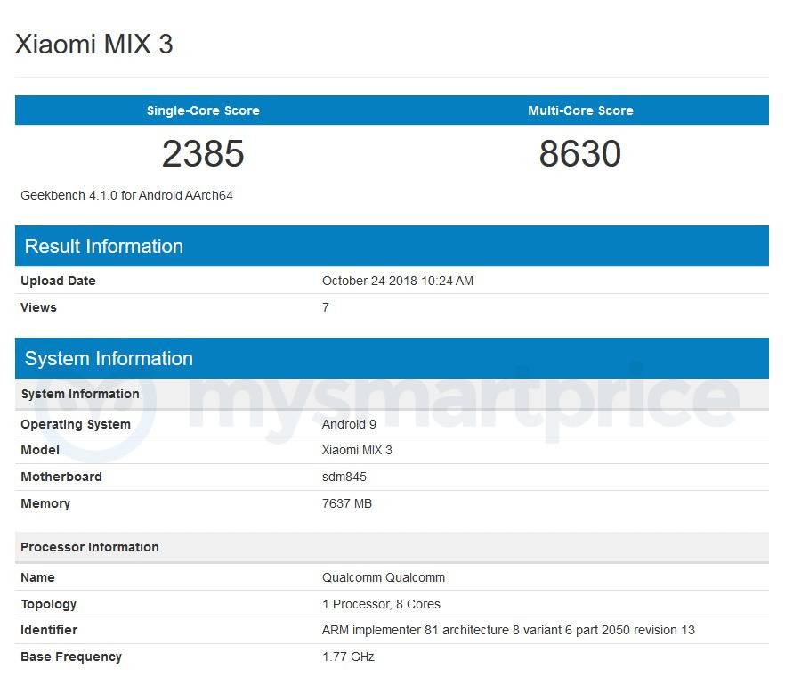 Xiaomi Mi Mix 3 ufficiale con sistema a slitta: caratteristiche e prezzi