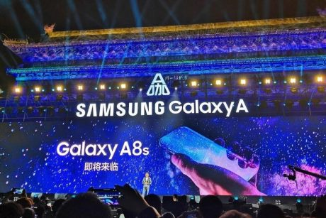 Samsung teases the Galaxy A8s with bezel less design and hole in the display