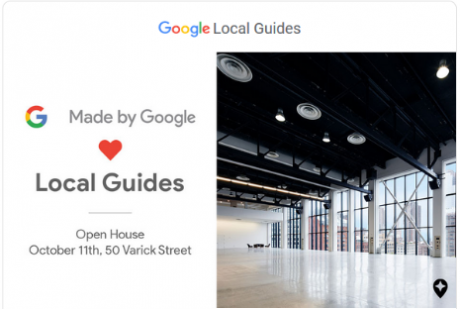 Google local guides open house