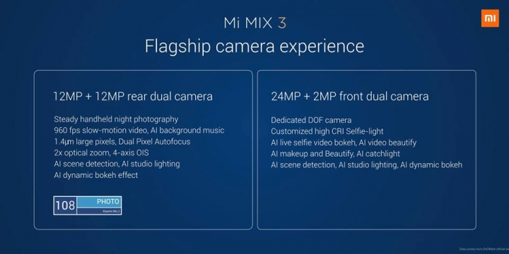 Xiaomi Mi MIX 3 è ufficiale: un full-screen pazzesco con 10