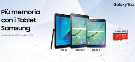Samsung regala una microSD da 128GB a chi acquista alcuni su