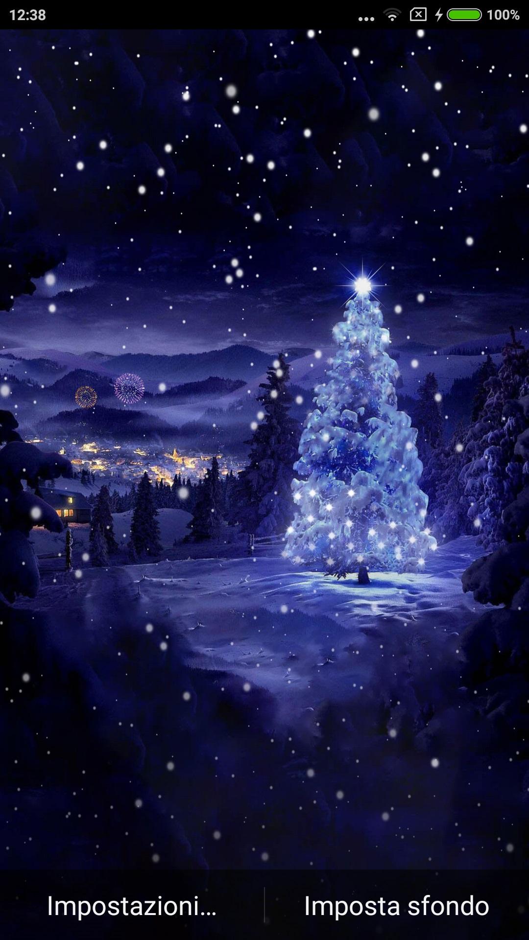 Sfondo Animato Natale.Christmas Tree Offre Uno Sfondo Animato Personalizzabile Con