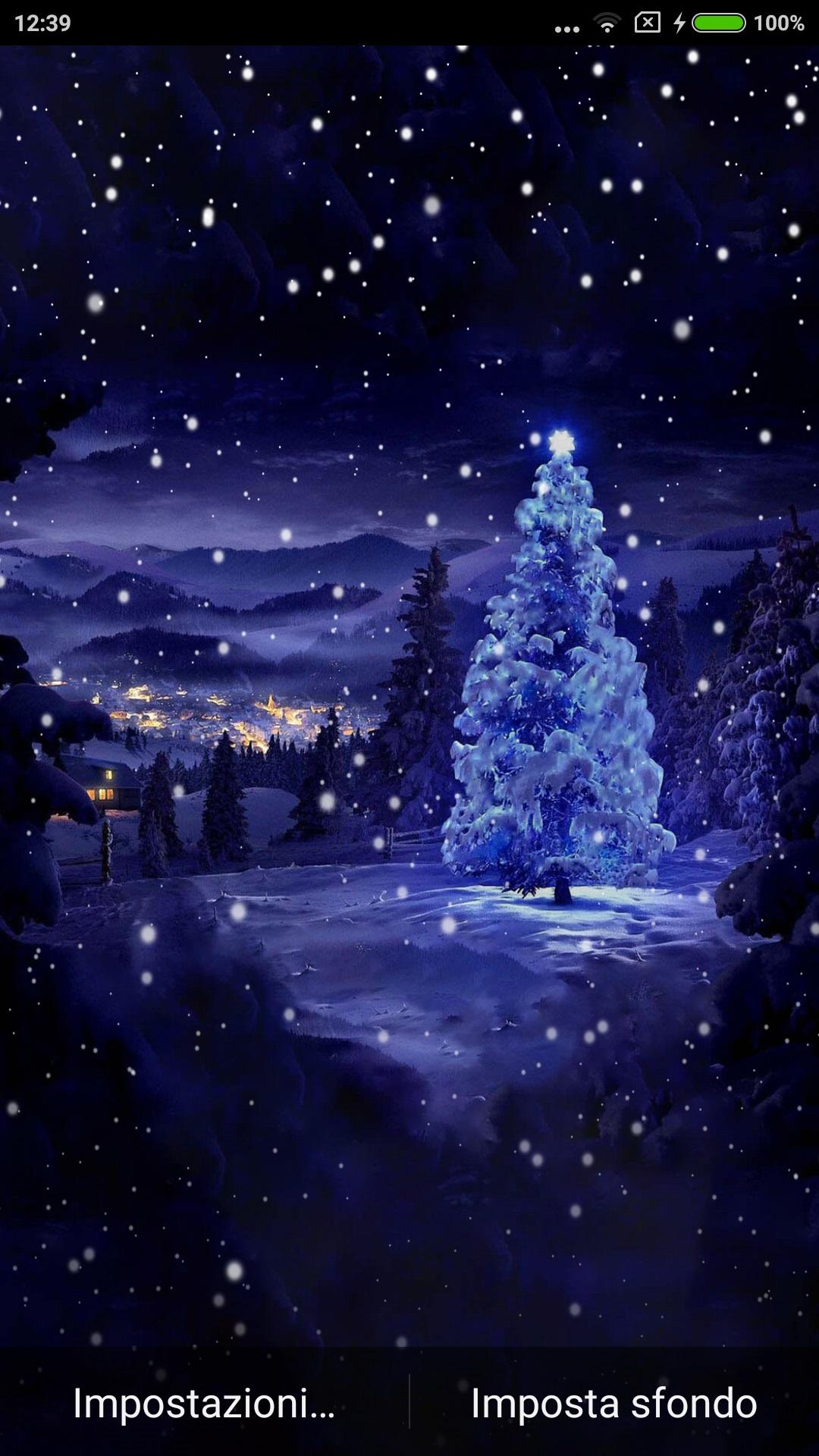 Sfondi Paesaggi Natalizi.Christmas Tree Offre Uno Sfondo Animato Personalizzabile Con L Albero Di Natale Innevato