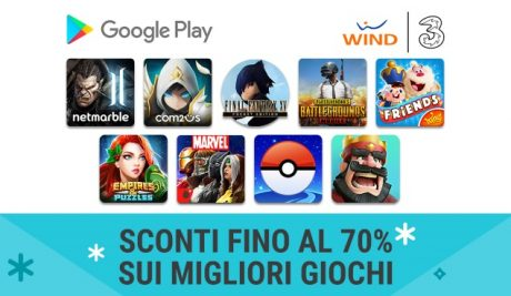 Wind Tre sconti Google Play