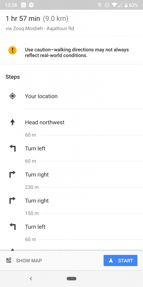 Google maps directions old 3