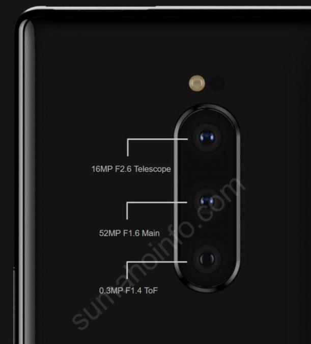 Sony Xperia XZ4 tripla fotocamera
