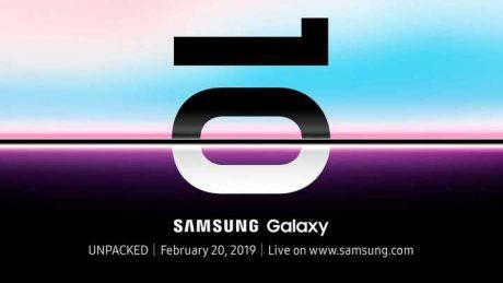Galaxy s10 launch invite 20febbraio