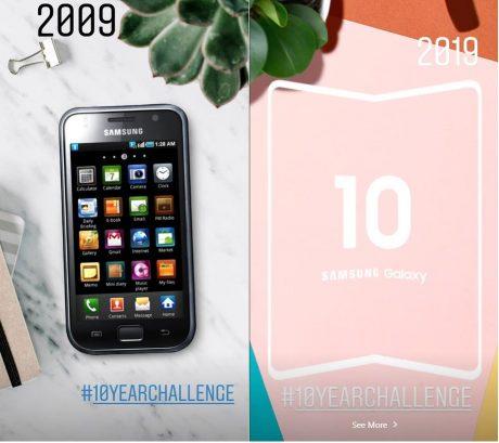 Samsung 10 year challenge