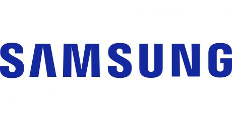 Samsung Logo bianco blu