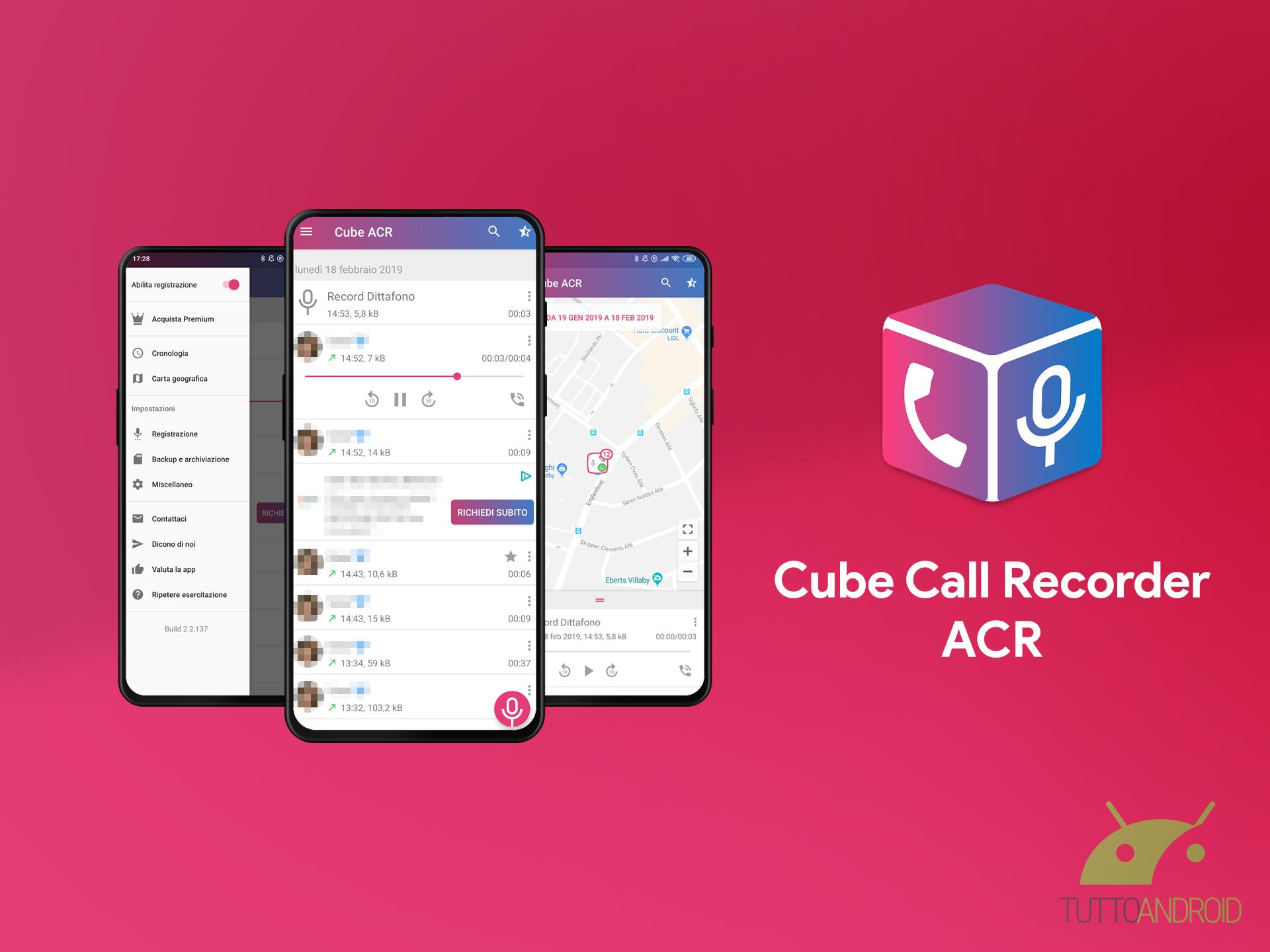 Cube Call Recorder ACR è un'ottima app per registrare le