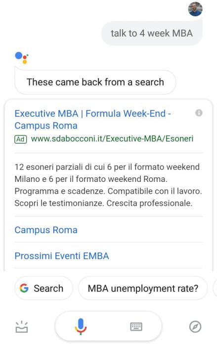 google assistant annunci pubblicitari