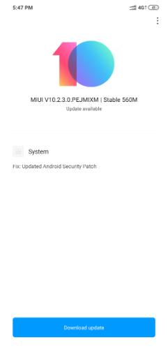 POCOPHONE F1 MIUI 10.2.3.0