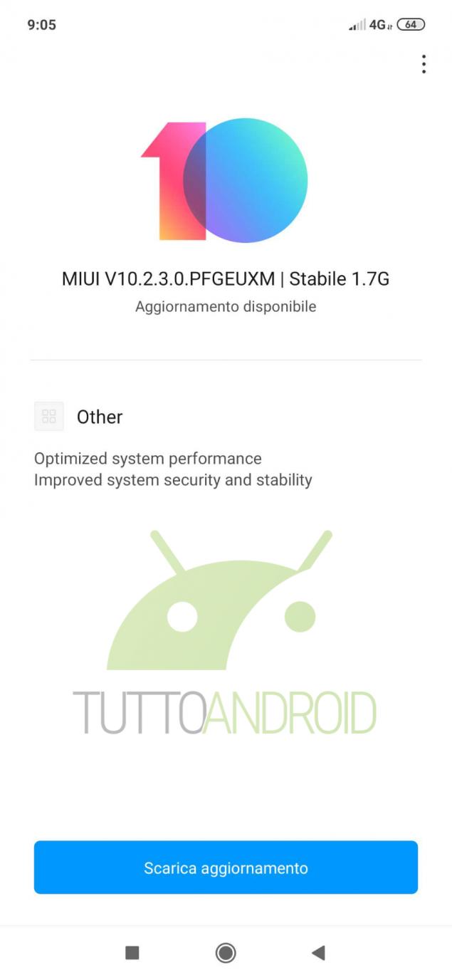 Redmi Note 7 aggiornamento