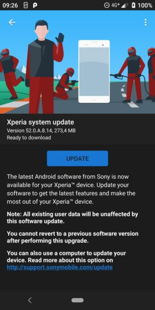 Xperia XZ2 March 2019 Security Patch 52.0.A.8.14 315x630