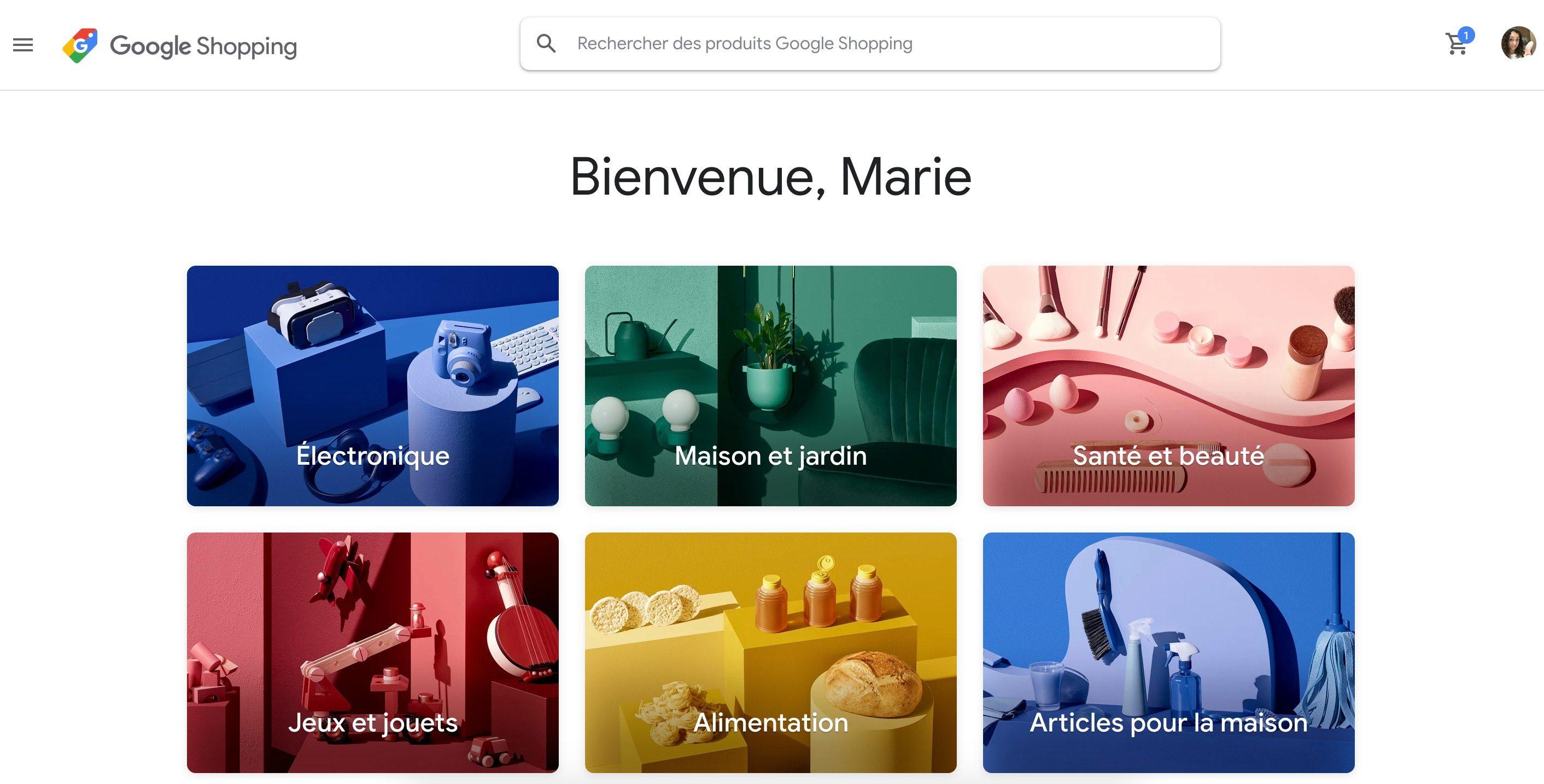 La nuova homepage di Google Shopping personalizzata è in