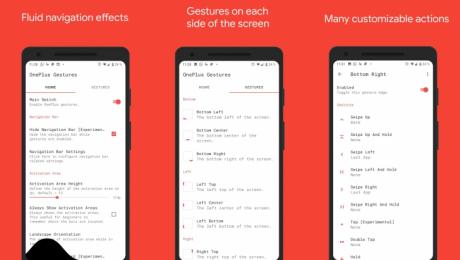 One + Gestures è un'app che permette di personalizzare la na