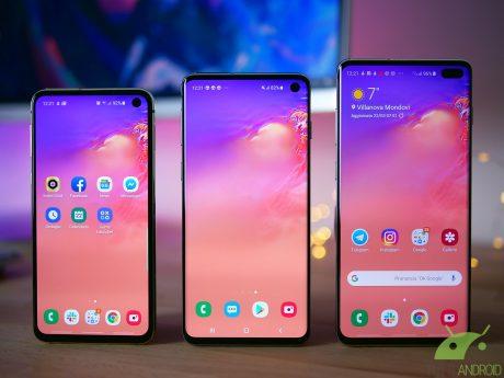 Samsung Galaxy S10, Galaxy S10+ e Galaxy S10e
