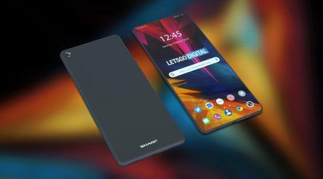 Sharp foldable phone render 2