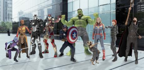 Avengers Endgame Pixel stickers