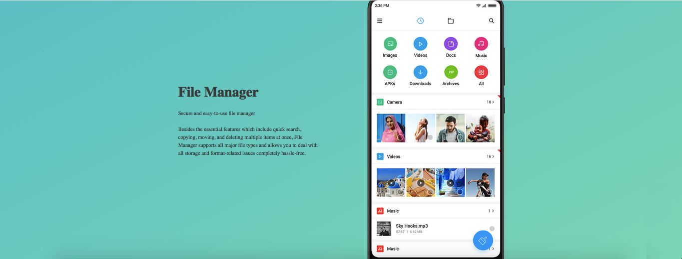 MIUI 10 File manager