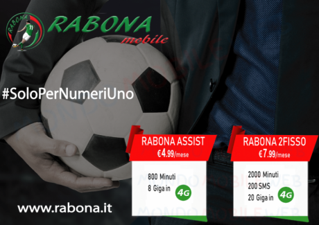 Rabona Mobile lancia i pacchetti Assist e 2Fisso a partire d