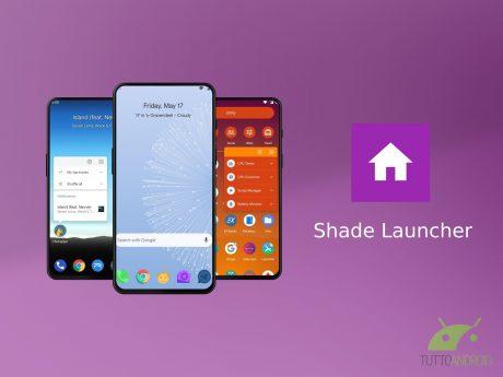 Shade Launcher offre un'interfaccia efficiente focalizzata s