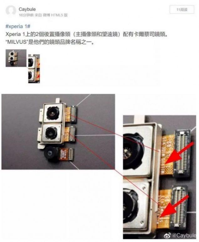 Sony Xperia 1 modulo fotografico