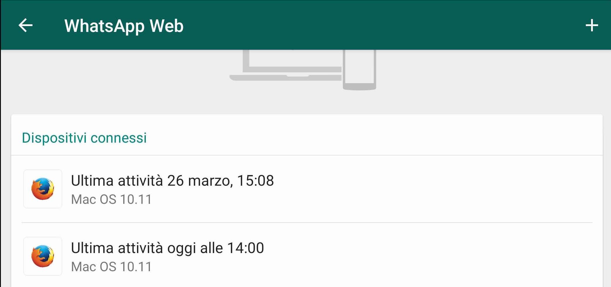 WhatsApp Web accesso