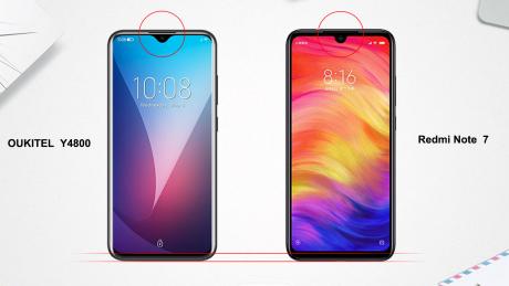 Y4800 display vs redmi note 7 display