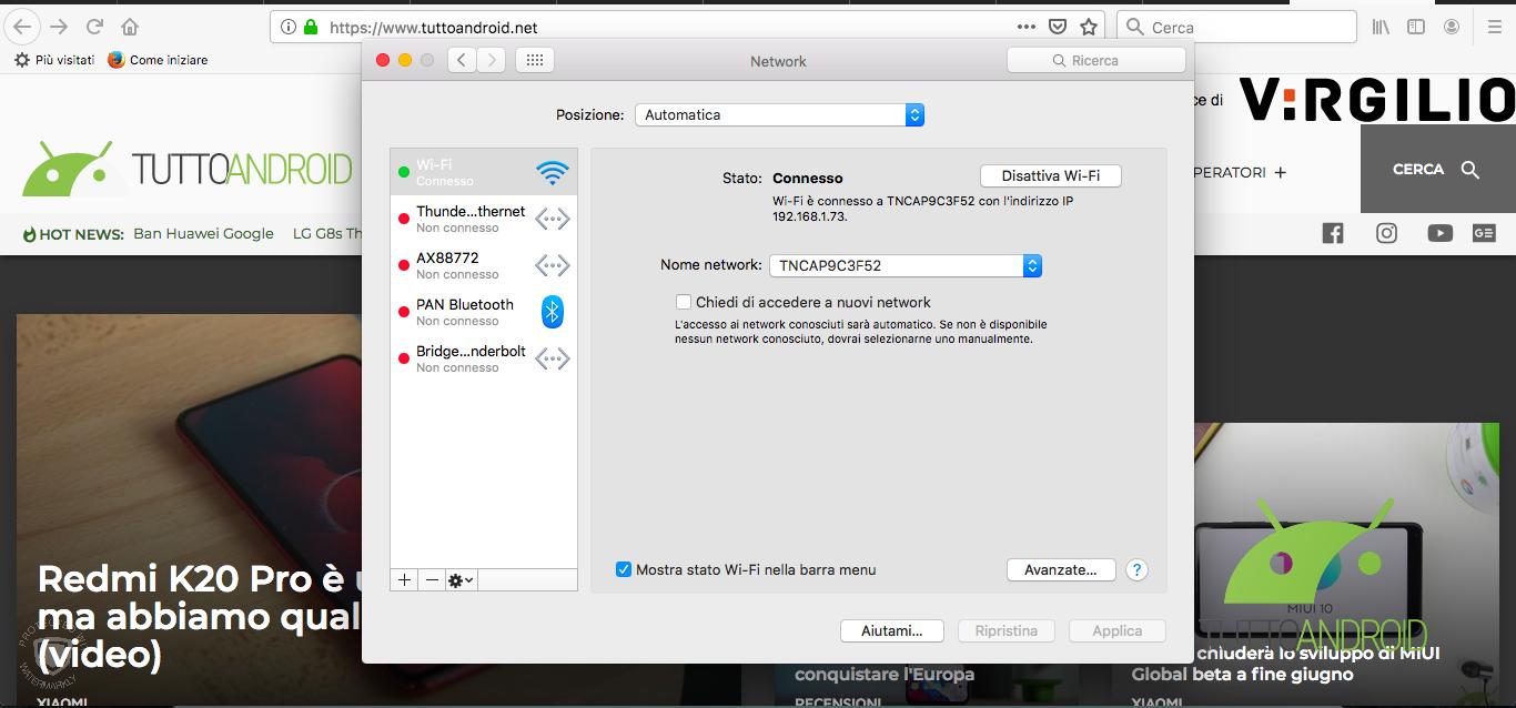 Avanzate Connessioni Mac