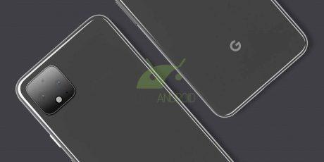 Google Pixel 4 render ufficiale chiaro