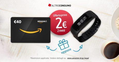 Altroconsumo buono amazon regalo 40 euro