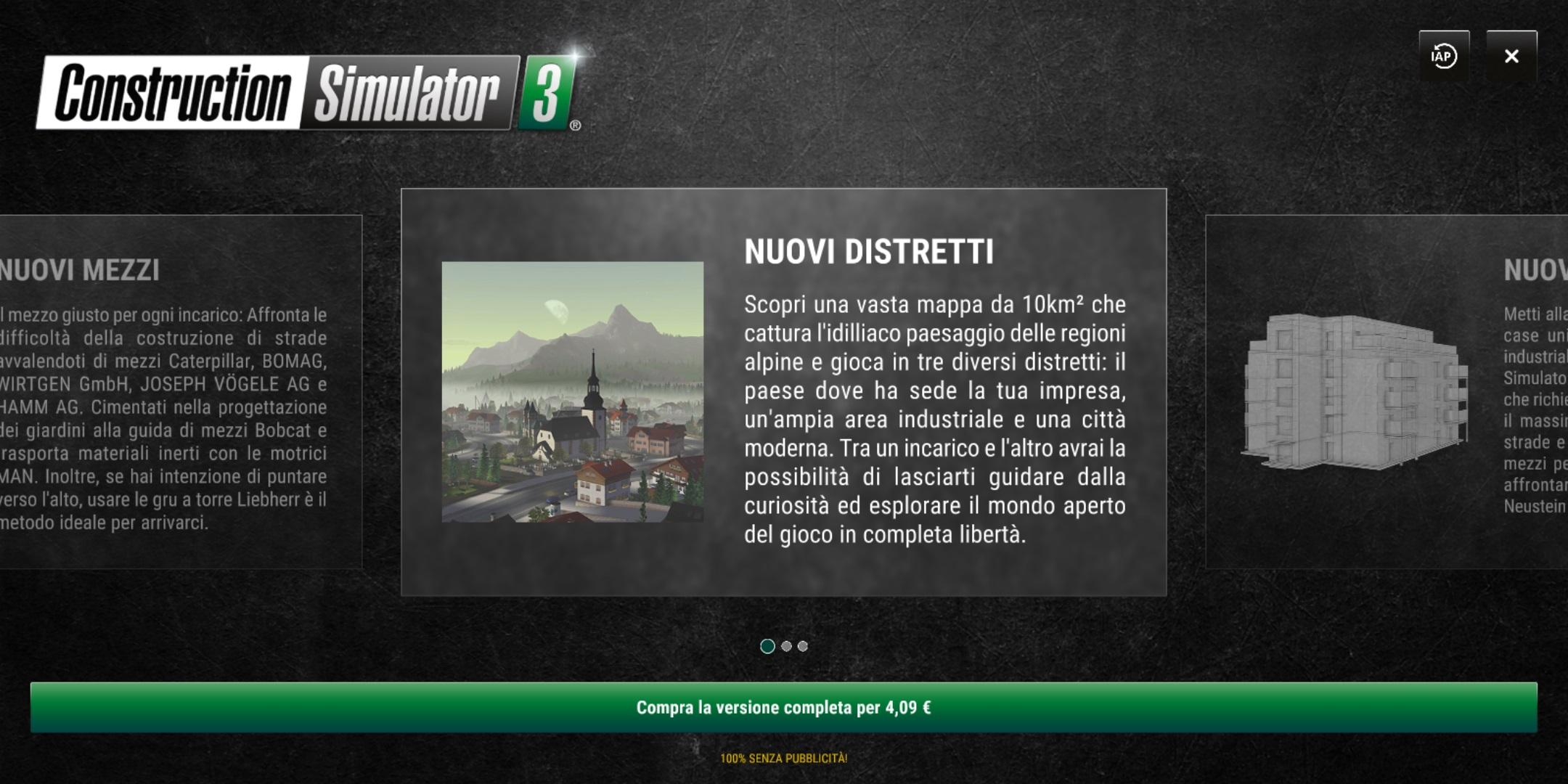 Construction Simulator 3 Lite permette di testare