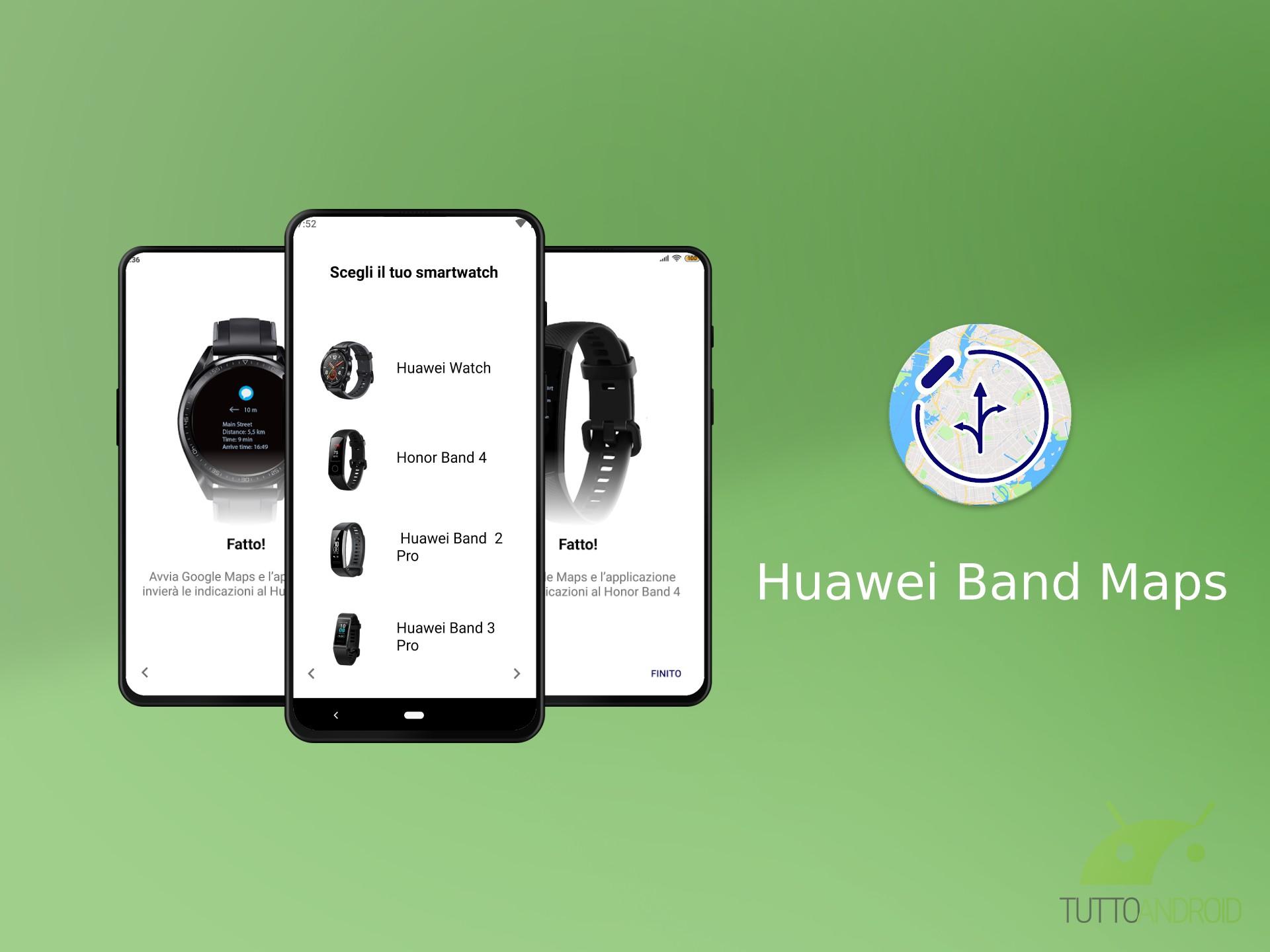 Huawei Band Maps riceve un aggiornamento: ora supporta uffic