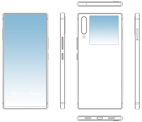 Ecco le immagini di brevetto dello smartphone dual screen di ZTE