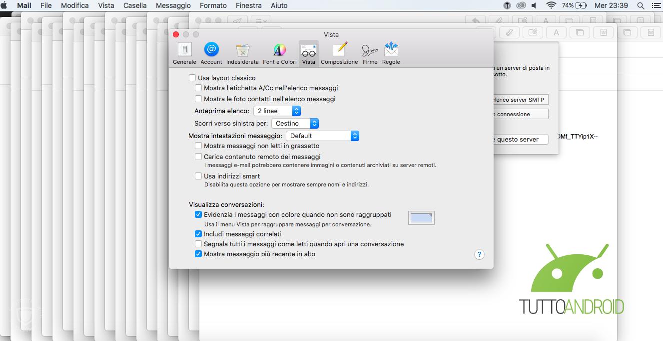 disabilita tracciamento Apple Mail