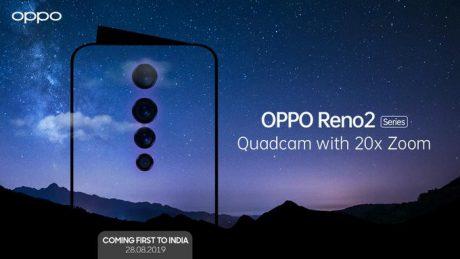 OPPO Reno 2 India launch invite