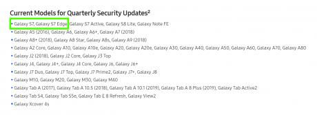 Samsung Galaxy S7 patch sicurezza
