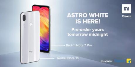 Redmi note 7s 7 pro astro white