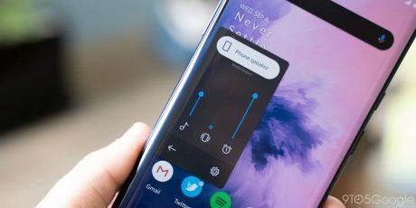 Android 10 oneplus 7 pro volume