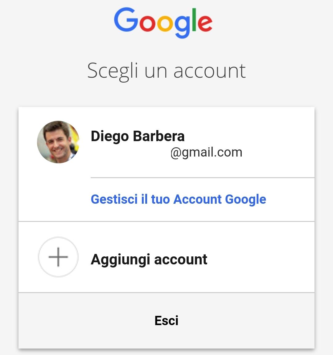 Accesso Account Google desktop
