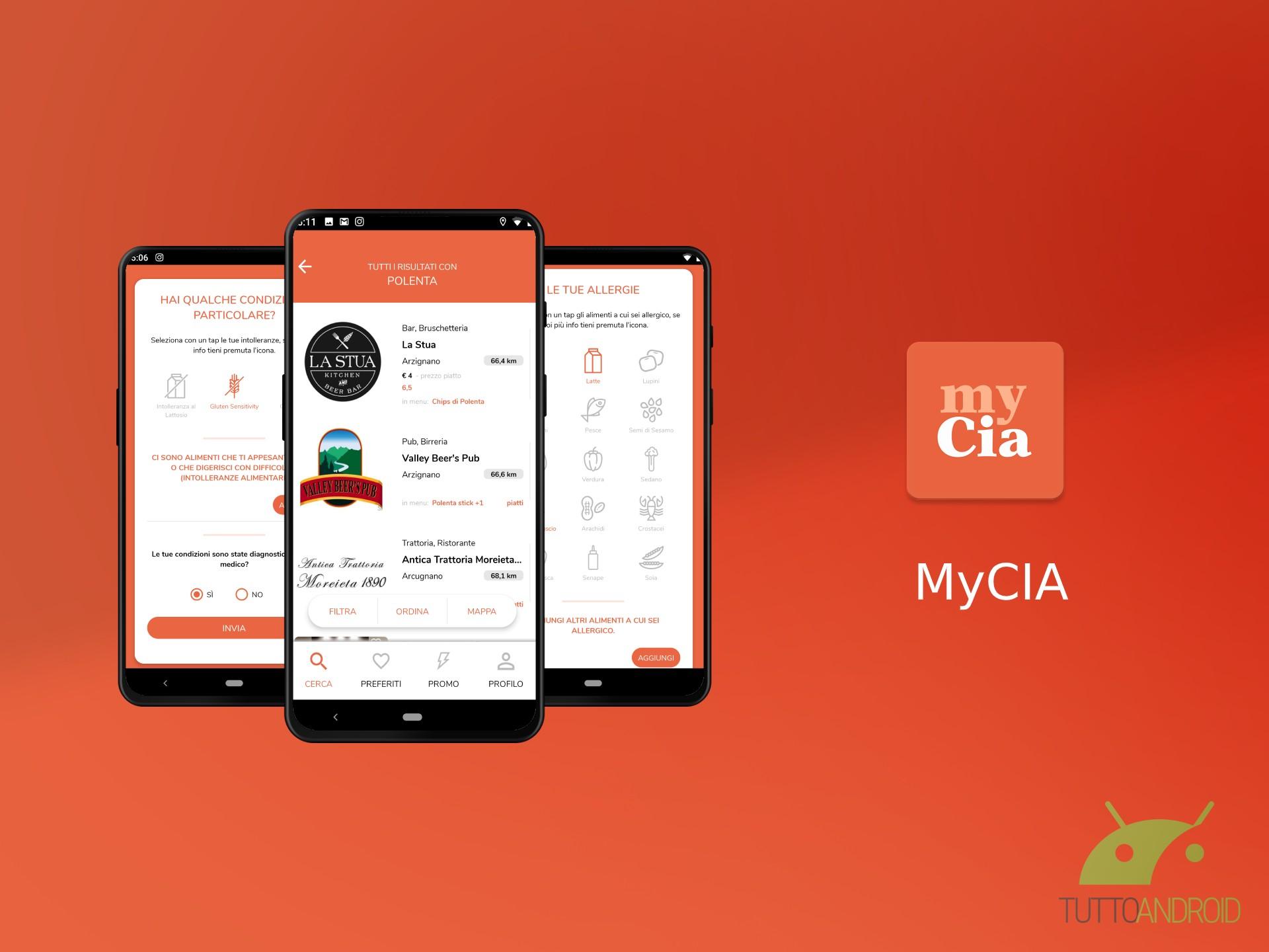 L'app MyCIA vi permette di seguire il vostro stile alimentar