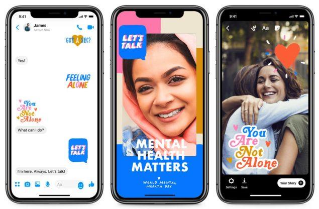 facebook sticker let's talk salute mentale