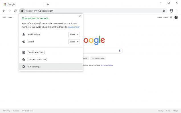 google chrome blocco contenuti insicuri https