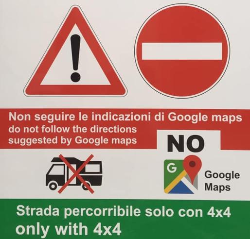 google maps regione sardegna cartelli stradali