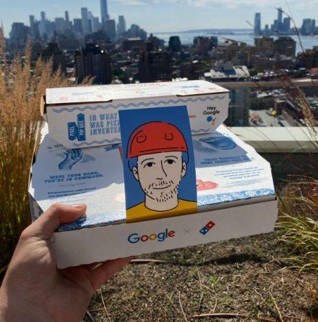 google pixel 4 dominos pizza