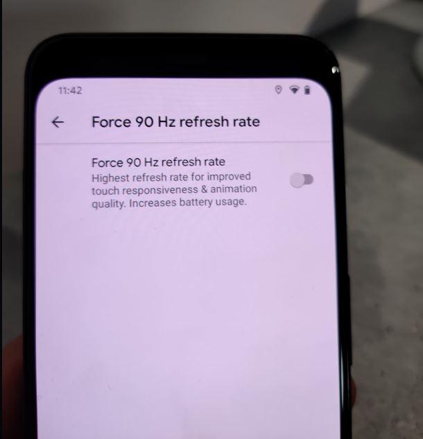 google pixel 4 xl refresh display 90 hz luminosità