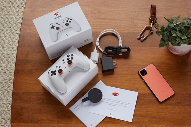 google stadia interfaccia tv mobile confezione