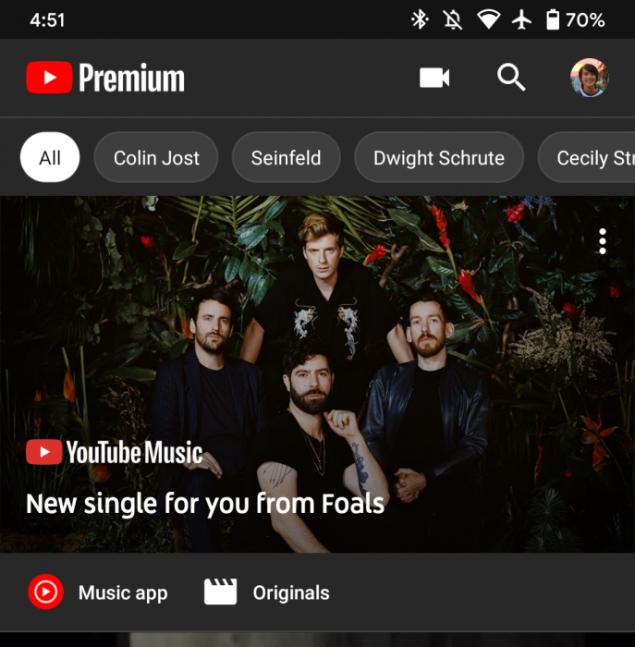 google youtube music raccomandazione brani artisti